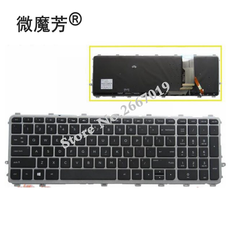 New English keyboard for HP 17 15 17T 15T 15T J 15Z J 15t j000 15z j000 US laptop keyboard backlit