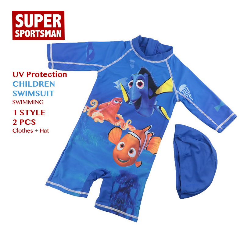 Swimsuit Children Clothes-Sets Bathing Fish Anti-Uv Baby-Boys Beach Toddler Summer Cartoon