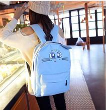 2017 Harajuku Style luna Sailor Moon Canvas Backpack Cute Cat Shoulder Bag For Teenager Girls Book Bag Rucksack все цены