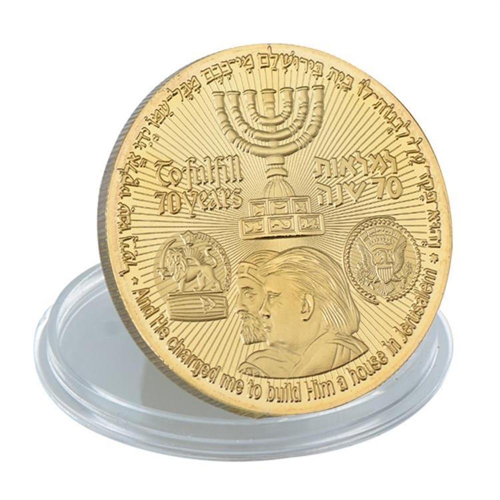 donald trump jerusalem coin