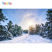 Yeele Winter Snow Forest Sunshine Bedroom Decor Photography Backdrops Personalized Photographic Backgrounds For Photo Studio