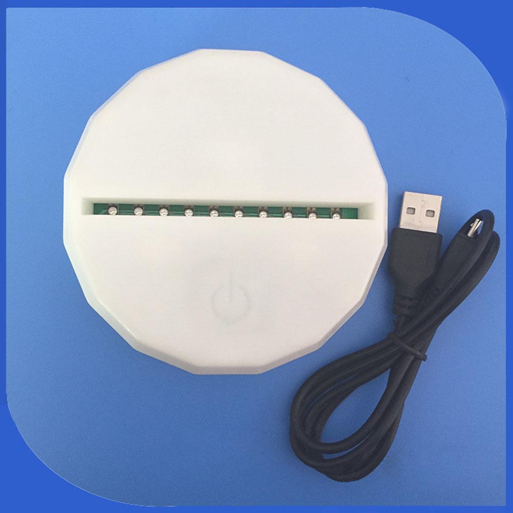 3D Led Lamp Base Luminous Night Light USB Touch 7 Colors Change Lamp Holder Lighting Fixture Replacement Table Lamp Bases цена