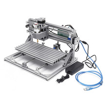 Mini enrutador CNC DIY 3018 de 3 ejes 24V CC 5,6 a, con módulo láser de 2500mW, máquina de grabado y corte de madera