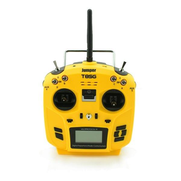 Jumper T8SG V2 Erweiterte Multi-Protokoll 12CH Kompakte Sender für Flysky Frsky DSM2 Walkera Futaba-(Links Hand gas)