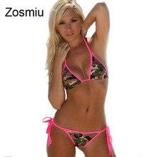 Zosmiu Women Swimwear Colorful Pattern Bikinis 2016 Bathing Suit Wholesale Push Up Brazilian Biquini Two Piece Bandage Swimsuits