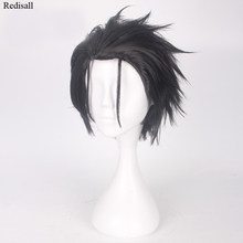 Natsuki Subaru Black Wig Rintarou Okabe Wig Cosplay Steins Gate Cosplay Re:Life in a Different World from Zero Adult Cosplay