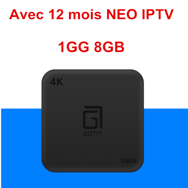 Top French S905 Android TV BOX 7 1+NEOtv PRO IPTV subscription