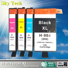 4 Pcs Compatible Ink Cartridge For HP904XL HP908XL , Suit for HP OfficeJet Pro 6960 / Officejet 6970 Impressora