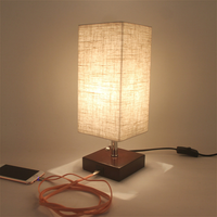 Simple Linen Cloth Lampshade Lacquer Table Lamp Bedside Lamp Bedroom Led Small Desk Lamp Textile Nordic Modern Simple Led Lamp