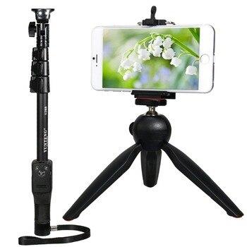 YunTeng 1288 Extendable Bluetooth Shooting Handheld Monopod + Mini Tripod + Cellphone Clip for Digital Camera iPhone
