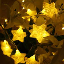 6M 40LED Crack Star Battery/USB Powered  Fairy Light  Christmas Garland String Light For Party Holiday Wedding Garden Decoration yingtouman iron small christmas tree battery powered lamp led string light christmas holiday party decoration lighting 5m 40led
