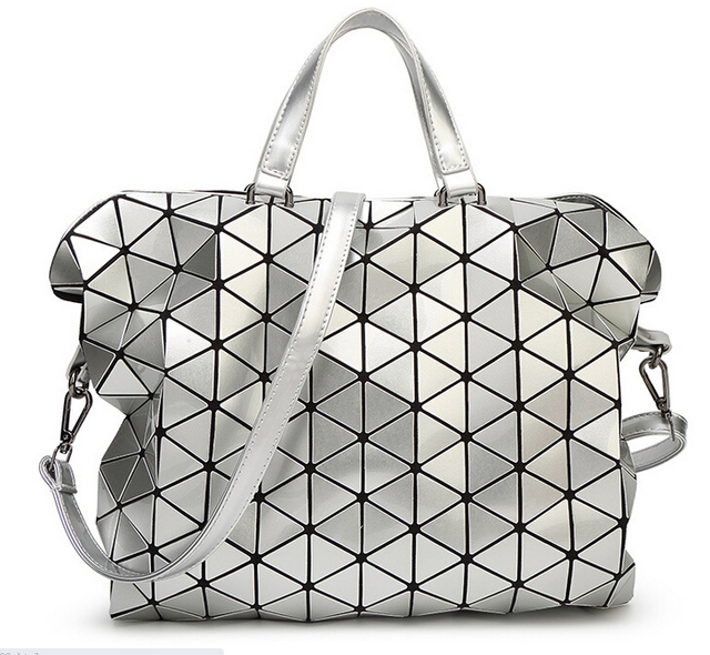 2015 Fold Over Geometric Zipper Briefcase bags Women Handbags Casual Japan  Brand Bao Bao Issey Miyake Shoulder bag Large Style bd0344bb54c3e