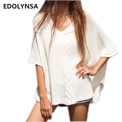 Sexy beach cover up 2017 white crochet pareos for women swimwear saida de praia beachwear cover.jpg 250x250