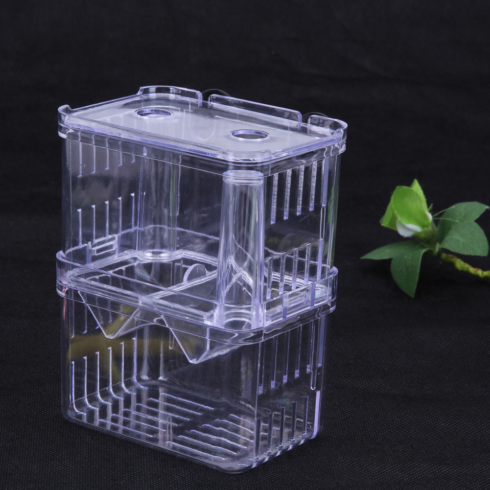 Acrylic Fish Breeding Box Aquarium Breeder Box High Clear Double Guppies Hatching Incubator Aquarium Pets Supplies S/L