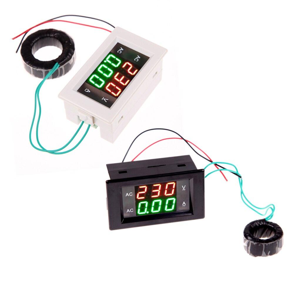 AC Digital Amperemeter Voltmeter LCD Panel Amp Volt Meter 100A 300 V 110 V 220 V Hohe Qualität