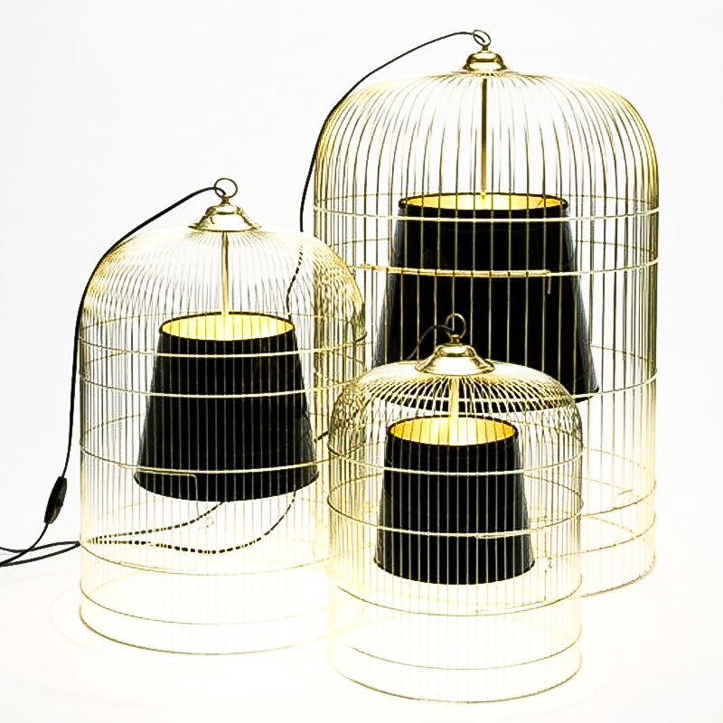 Gold silver black rust color bird cage pendant light reative country art Iron loft birdcage Bar Art Deco Light E27 9W bulb art silver art silver ar004dujjz59