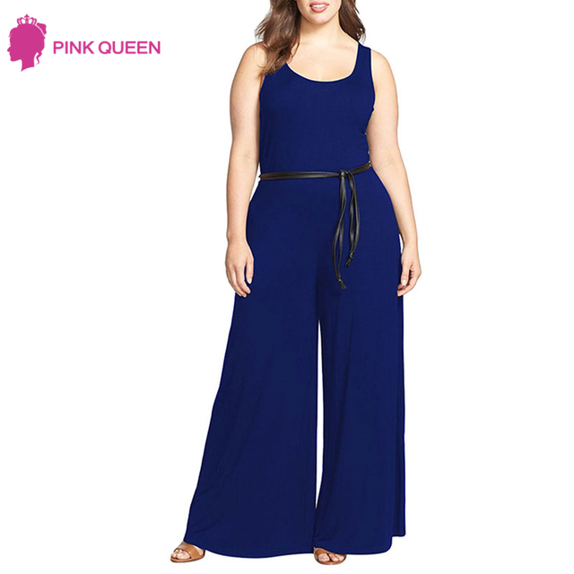 d1e8fcbf3aaa1 Pink Queen 2019 Dames Kleding Enteritos Mujer Body Sexy Wide Leg Womens  Overalls Jumpsuit Plus Size Womens Clothing Monos Largos
