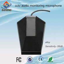SIZHENG cctv mic audio monitoring low noise microphone security camera system sound pickup smallest microphone mini audio mic for security dvr camera system cable cctv microphone sound signal device wide range high sens