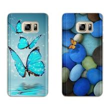 For Samsung galaxy a7 2018 case A6 A8 A5 J5 J7 J8 J6 J4 Plus Fundas Etui Butterfly Feather Dreamcatcher Phone Case Soft TPU Etui