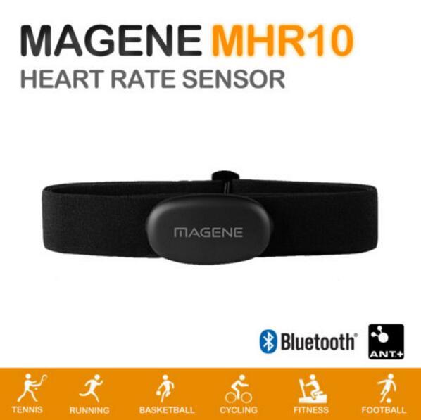 Magene MHR10 Bluetooth4.0 ANT + Sensor de frecuencia cardíaca Compatible GARMIN Bryton IGPSPORT Ordenador de bicicleta Monitor de ritmo cardíaco