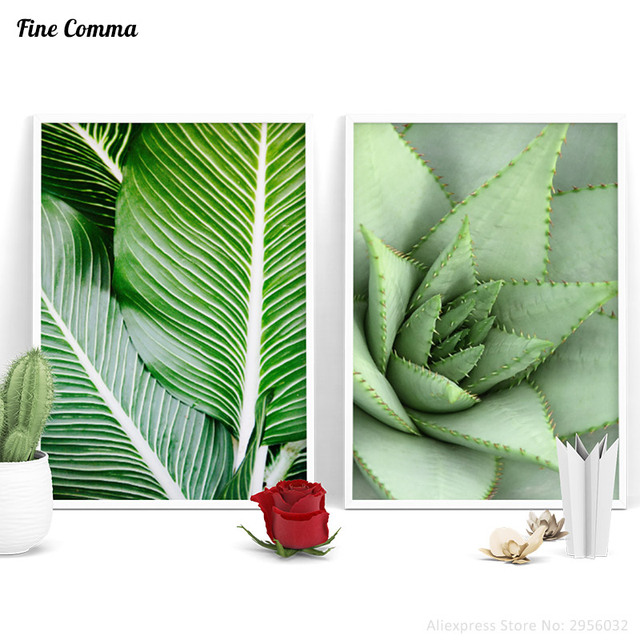 Aliexpress Buy Cactus Tropical Leaves Nordic