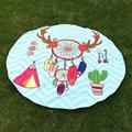 Cráneo redondo dreamcatcher tapiz hippie beach picnic tiro yoga mat manta toalla servilleta de plage mandala colcha decoración