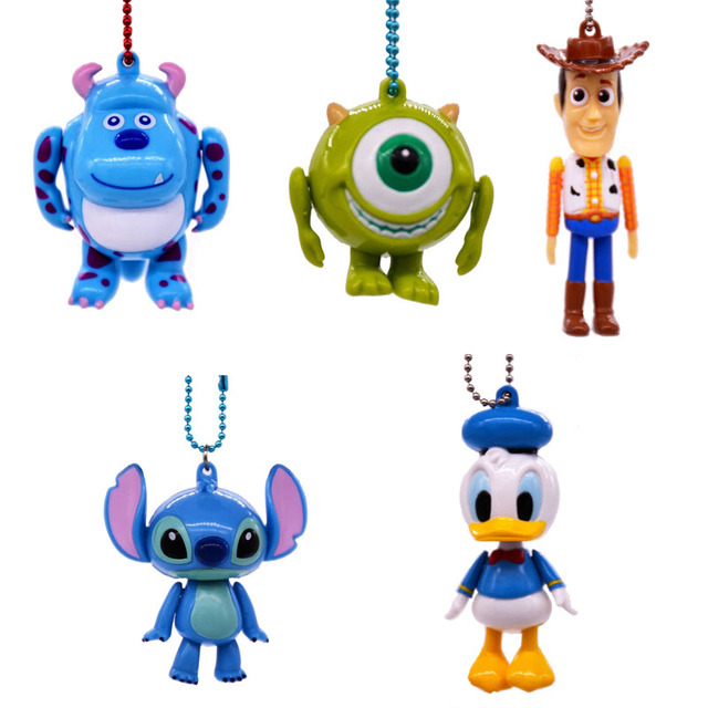 Disney Toys Donald Duck stitch toy story Woody Collectors Anime Keychain  Action Figure models Toys for children Christmas Gift 6907ec4a0f3