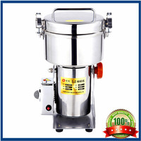 Salt and pepper mill 110V1500g large output swing type stainless steel electric powder crusher herb grinder