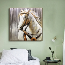 Watercolor Horse Animal Canvas Painting Wall art Picture for Living Room Bedroom Art Poster Decoration Morden Print