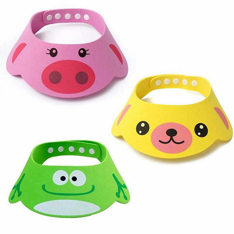 Cute Cartoon Baby Bathing Caps for Children Shampoo cup Children's Toilet Bowl Baby Shower Spoons Children's Toilet Bowl Tool