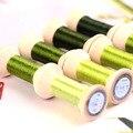 20 м светильник, зеленый, Suzhou DIY, цветная шелковая ветка, ручная вышивка Spiraea