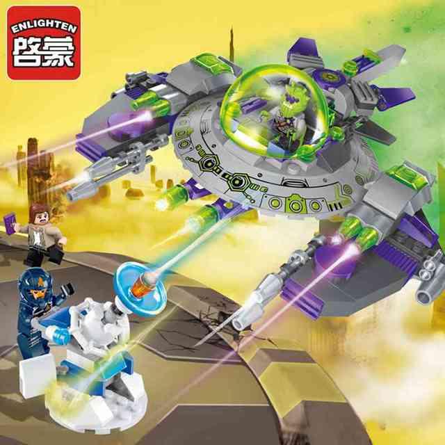 Enlighten 1608 serie montan bloques de construcción bloques de juguetes para niños de aventura espacial kits educativos diy juguete brinquedo