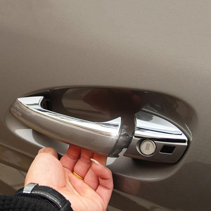 Image 5 - Car Styling Door Handle Frame Decoration Sticker Trim For Mercedes Benz C Class W204 2008 14 Exterior Door Bowl Sequins