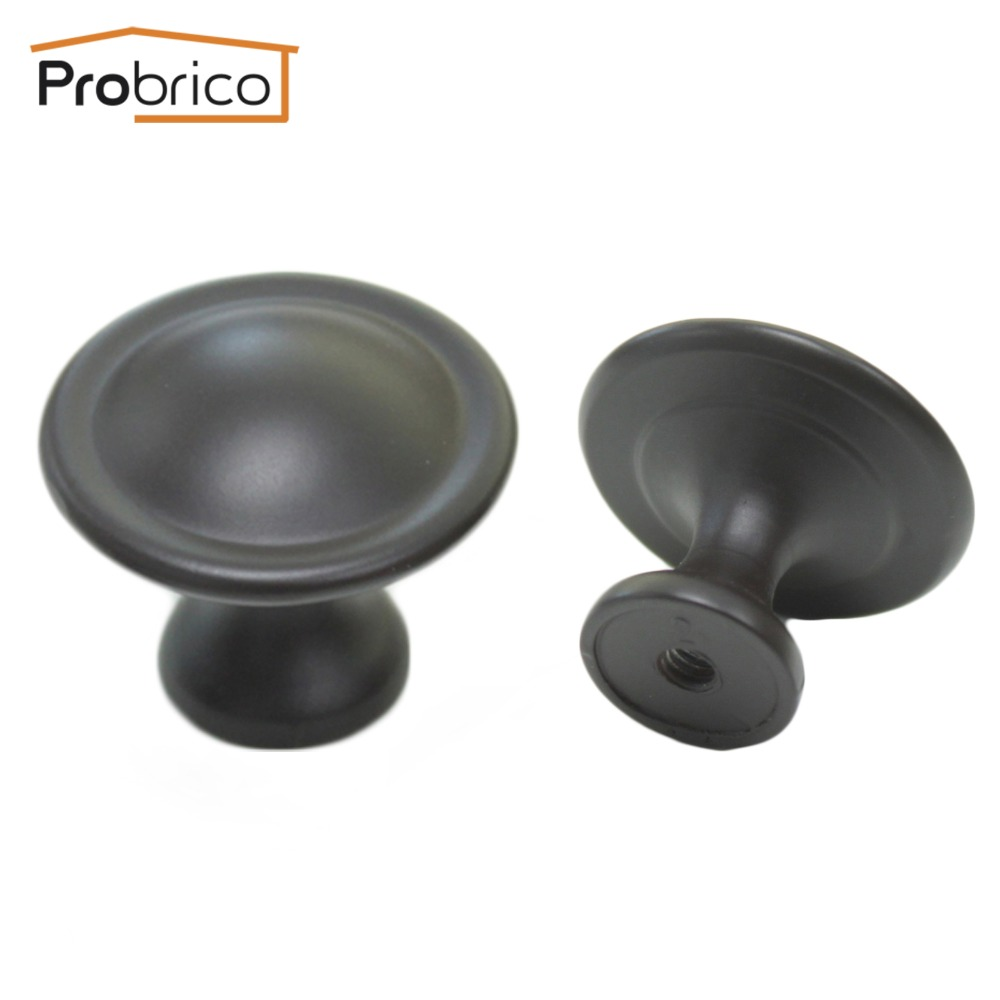 Oil rubbed bronze cabinet door knobs - Probrico 10 Pcs Furniture Drawer Knob 29mm Ps81156ob Zinc Alloy Antique Oil Rubbed Bronze Kitchen Cabinet
