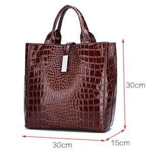 Image 2 - Новый роскошный костюм из 3 предметов, женская сумка, большая Вместительная женская сумка, ретро сумки на плечо, женская кожаная большая сумка тоут с сумкой через плечо