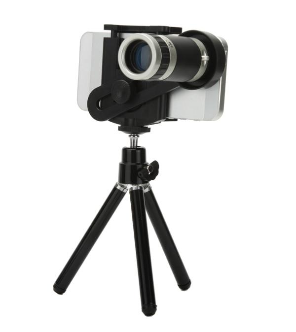 imágenes para Teléfono móvil de 8x zoom universal telescopio lupa lente teleobjetivo de la cámara con trípode soporte para iphone samsung htc lg nokia sony