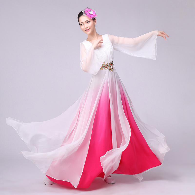 New Chorus Costume Long Skirt National Dance Costume Stage Costume Classical Modern Dance Dress