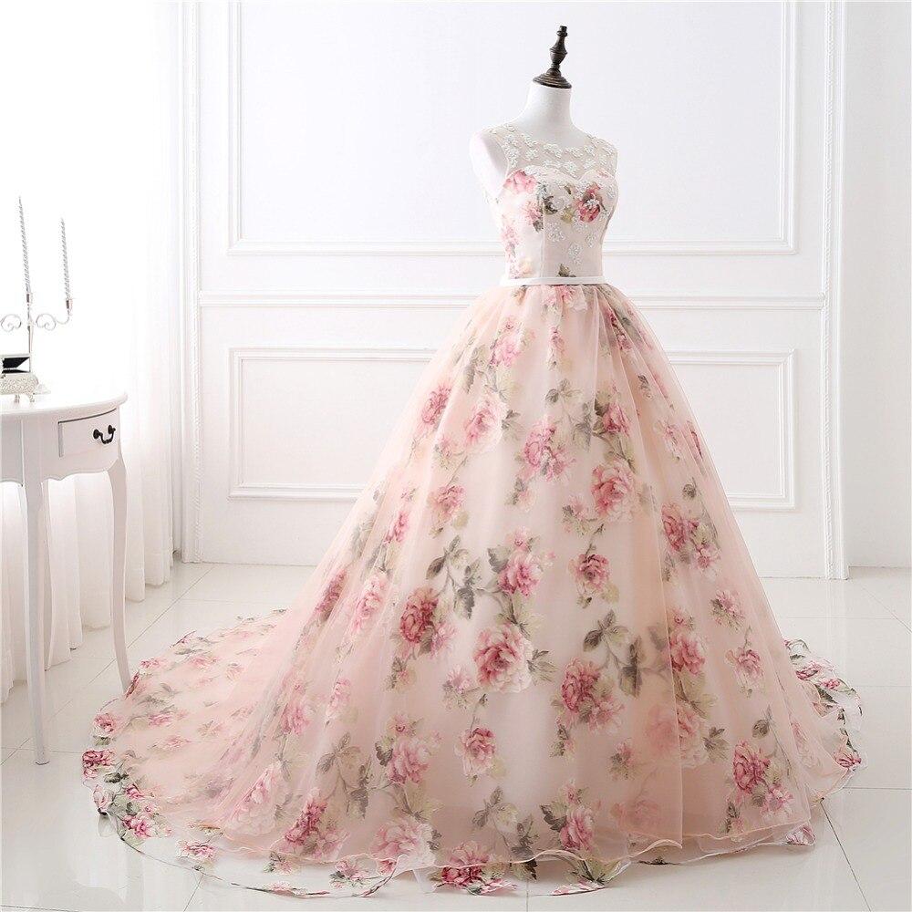 Meilleure vente De longues robes De soirée avec des Appliques De dentelle imprimé Floral formelle Robe De bal pour les femmes Robe De soirée Photo réelle