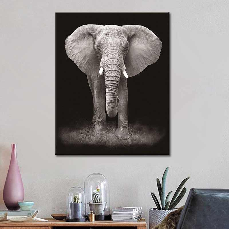 Africa Elephant Canvas Painting Nature Wild Animals Posters Nordic Prints Wall Art Picture for Living Room Home Decoration