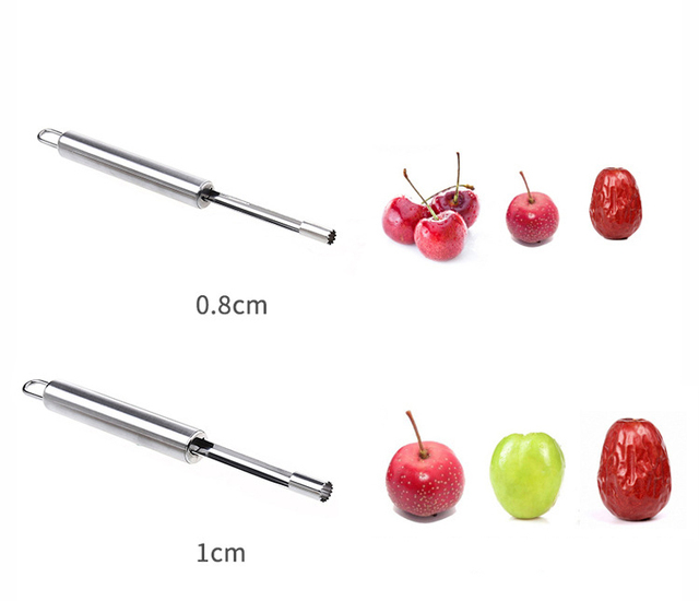 Creative 1Pcs Stainless Steel Twist Fruit Core Seed Remover Hawthorn Jujube Pear Apple Corers Seeder Kitchen Gadgets Tools 5