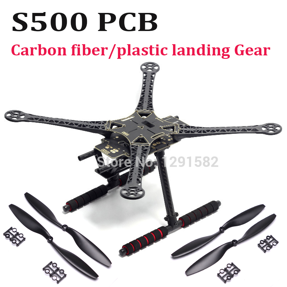 S500 500mm PCB Version Four Axis Qudcopter Frame ( F450 Upgrade Version ) With Carbon Fiber / Plastic Landing Gear 1045 Prop