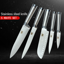 XYj Completely Stainless Steel Kitchen Knives Home Daily Tools Fruit Vegetable Fish Meat Cake Best Cooking