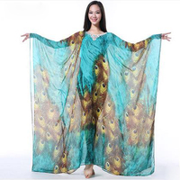 New Style Belly Dance Costumes Senior Sexy Cotton Peacock Belly Dance Dress For Women Belly Dance