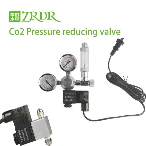 ZRDR Aquarium CO2 Regulator Magnetic Solenoid Check Valve Aquarium Bubble Counter Fish Tank Tool Pressure reducing