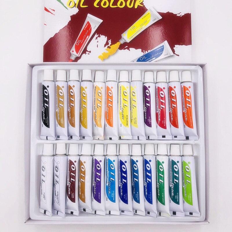 24-pieces-tube-professionnel-peintures-a-l'huile-art-pour-artistes-toile-pigment-art-fournitures-dessin-12ml-24-couleurs-gratuit-pour-3-brosses