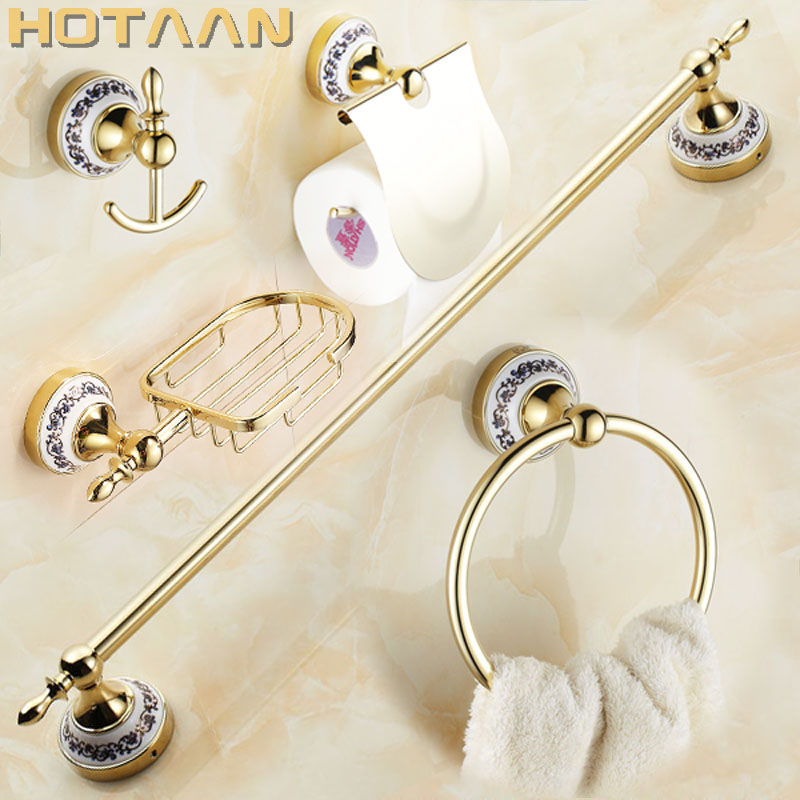 Free shipping,Stainless Steel + ceramic Bathroom Accessories ,Paper Holder,Towel Bar,Soap basket,bathroom sets,YT-11800G-5 art individuality creative soap dish holder frosted soap box romantic soap basket bathroom accessories free shipping mb 0815t