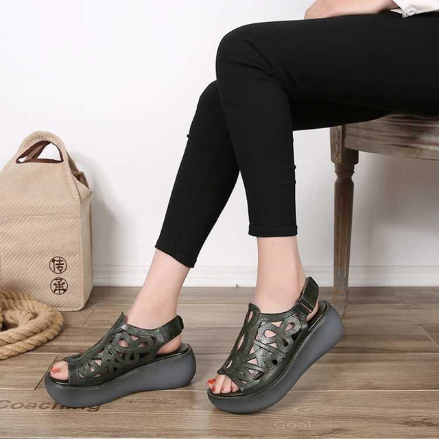 Genuine leather Women sandals