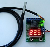 Waterproof DS18B20 Temperature Probe Thermostat Voltage Time Relay Smart Thermostat Timer Switch