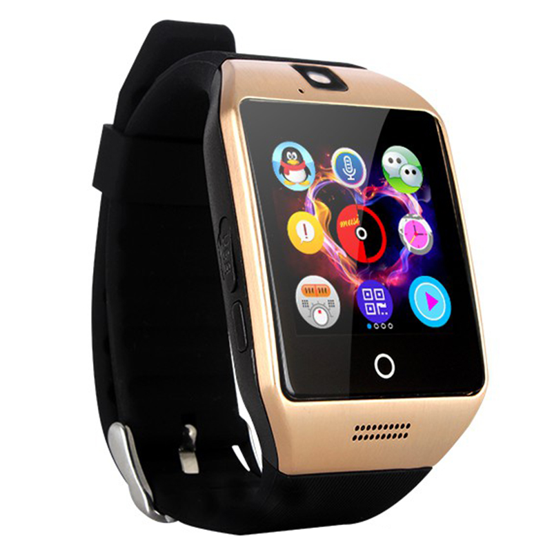 2017 Curved Screen Q18 Smart Watch Bluetooth Smartwatch Support NFC SIM Card With Pedometer Health Tracker