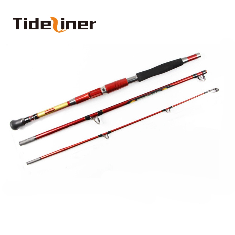 1 8m 2 1m Carbon fiber spinning jigging Boat trolling fishing Rod 3 sections 30 50LB